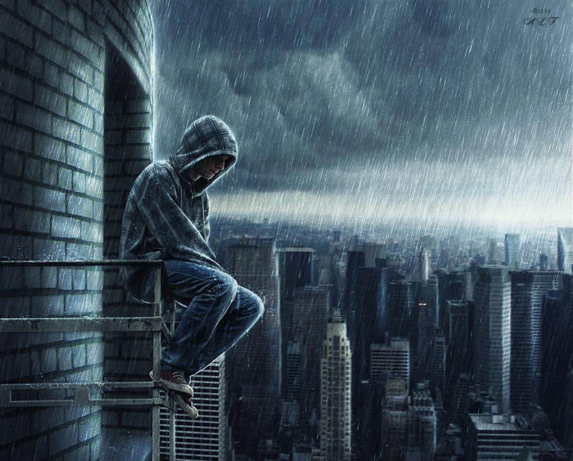Грустные картинки одиночество для пацанов