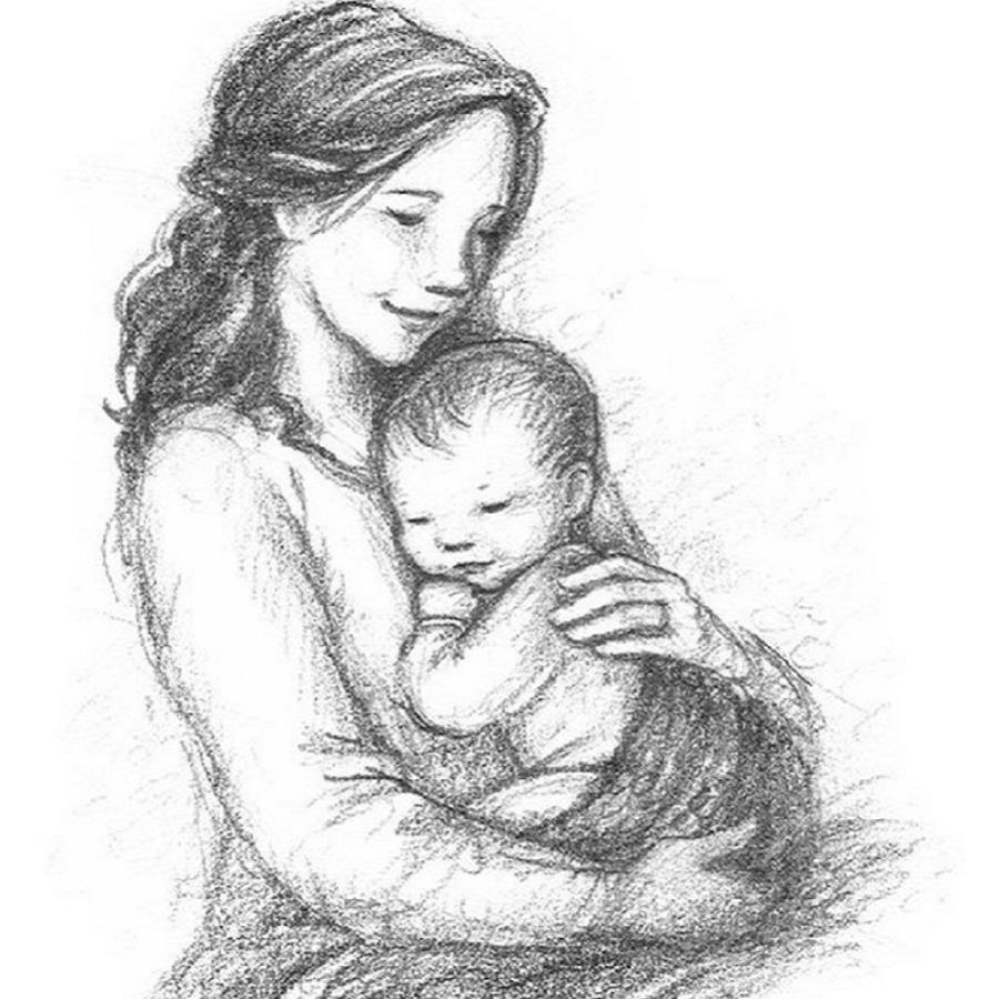 рисунок на тему день матери карандашом искал время